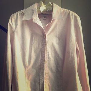 Banana Republic Pink Long Sleeve Button Up